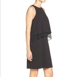 Betsy Johnson Tiered Bodice Crepe Sheath Dress - 8